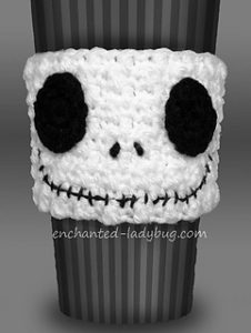 Free Crochet Patterns for Halloween Cup Cozy, Mug Cozy, Jar Cozy