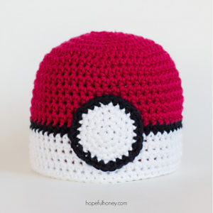 Pokemon Inspired Free Crochet Patterns for Pokeball Hats
