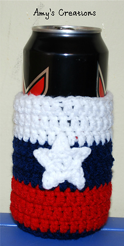12 Free Crochet Patterns For American Flag Can Cozy Mug Cozy