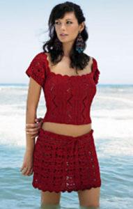 Free Crochet Patterns for Beach Cover Up Skirt (Short Beach Skirts)
