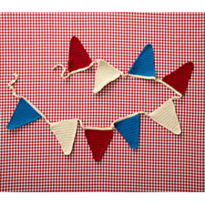 Free Crochet Patterns for making 4th of July Banner & Bunting