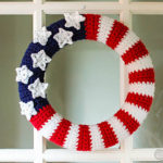 Free Crochet Patterns for American Flag Wreath
