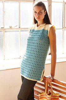 3dd7d45cfe Beach Cover Up by Lion Brand Yarn is a nice pattern made using Aran weight  yarn and a 5.5mm crochet hook.