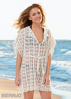 d76b7c9ea23 Beach Cover-Up by Bernat Design Studio is a stunning piece of work made  using DK weight yarn and a 4.00mm and a 5.00mm crochet hook.