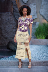Free Crochet Patterns for Beach Cover Up Skirt (Long Beach Skirts)