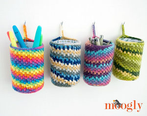 Free Crochet Patterns for Crochet Hanging Basket using DK/ Light Worsted Weight Yarn