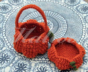 Free Crochet Patterns for Pumpkin Halloween Trick or Treat Bags