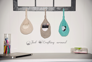 Free Crochet Patterns for Crochet Hanging Basket using Bulky/ Chunky Yarn