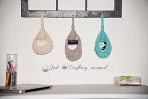 Free Crochet Patterns for Crochet Hanging Basket usingBulky/ Chunky Yarn