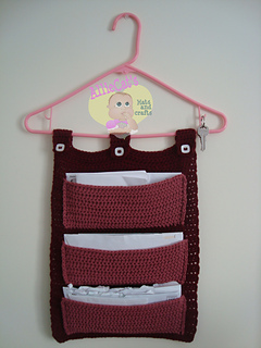 Hanging Mail Organizer By Raelynn Orff Is A Lovely One Made Using Aran Weight Yarn And 5 5mm Crochet Hook