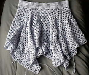 Free Crochet Patterns for Beach Cover Up Skirt (Short Beach Skirts)