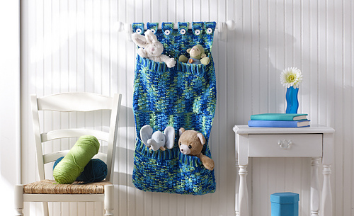 Free Crochet Patterns for Hanging Wall Organizer