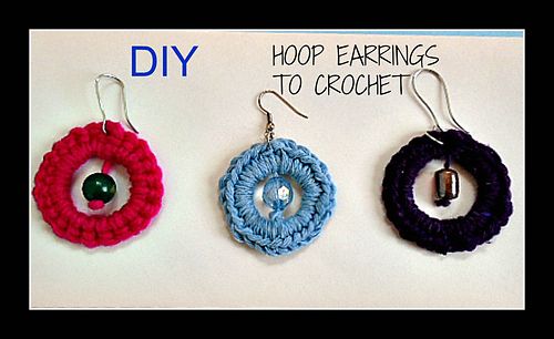 18 Free Crochet Patterns For Crochet Hoop Earrings