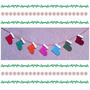 Free Crochet Patterns Stocking Christmas Banner