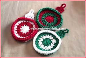 Free Crochet Patterns for Bauble Christmas Coasters