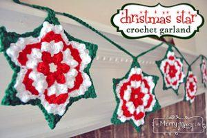Free Crochet Patterns Star Christmas Banner