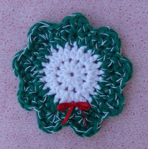 Free Crochet Patterns for Wreath Christmas Coasters