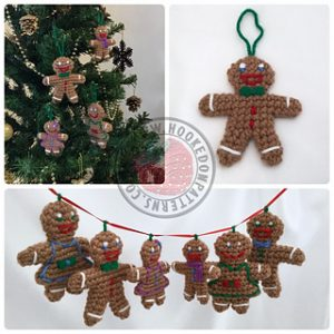 Free Crochet Patterns for Gingerbread Man Christmas Banner