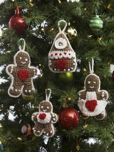 Free Crochet Patterns for Gingerbread Ornaments