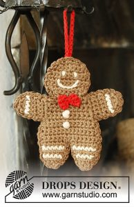 Free Crochet Patterns for Gingerbread Man Ornaments