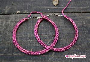 Free Crochet Patterns for Crochet Earrings with Hoops