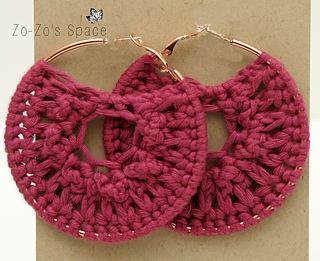 Quick Crochet Hoop Earrings By Erica K Are Nice Ones Made Using Worsted Weight Yarn And A 5 00mm Hook