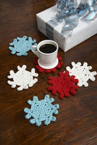 Free Crochet Patterns for Snowflake Christmas Coasters