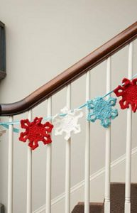 Free Crochet Patterns Snowflake Christmas Banner