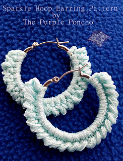 Sparkle Hoop Earrings By Carolyn Calderon Are Really Lovely Made Using Thread And A 1 75mm Crochet Hook