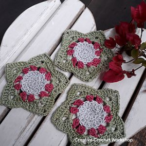 Free Crochet Patterns for Star Christmas Coasters