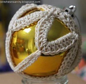 Designer Christmas Baubles Free Crochet Patterns