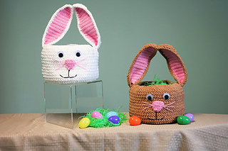Free Crochet Patterns for Easter Bunny Basket