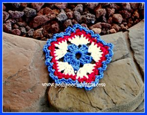 Free Crochet Patterns for Patriotic Coasters: 4th July Special