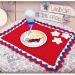 Free Crochet Patterns for Patriotic Placemat: 4th July Special