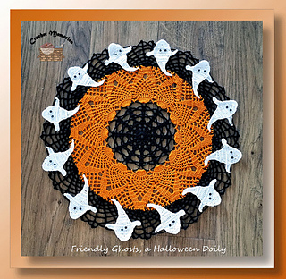 Halloween Crochet Doily Patterns- Skull Crochet Doilies