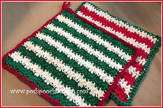Free Crochet Patterns for Christmas Dishcloth