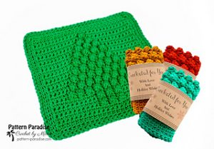 Free Crochet Patterns for Christmas Dishcloth