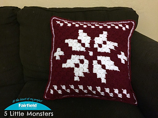 Free Crochet Patterns for Snowflake Christmas Pillow